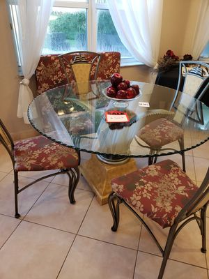 Glass Kitchen Table Chairs for Sale in Fort Lauderdale, FL