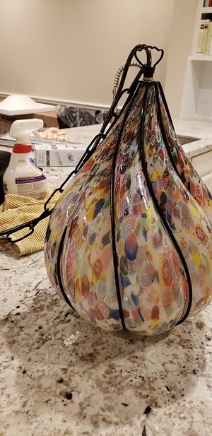 Three Murano glass pendant light fixtures for Sale in Houston, TX
