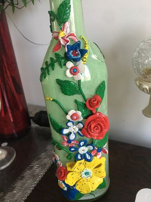 Hand made clay art on a bottle! for Sale in Chantilly, VA