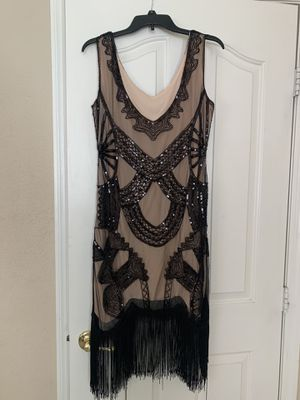 Flapper dress and shoes for Sale in Las Vegas, NV