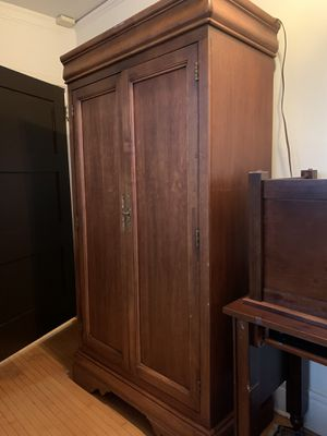 Vintage Armoire Dresser with TV stand for Sale in Beverly Hills, CA