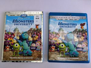 Monsters University - Blu-ray + DVD Only for Sale in La Puente, CA