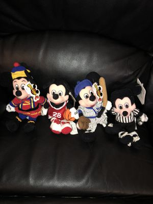 Disney Mickey Mouse Beanie Babies Brand New with Tags for Sale in Fresno, CA