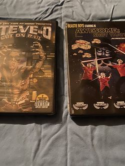 Steve-O Video Vol, 3: Out on Bail Dvd New Lowest Price + Beastie Boys Awesome I Shot That New for Sale in West Sacramento,  CA