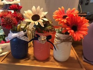 Set of Colorful Decor Painted Mason Jars. for Sale in Gainesville, VA