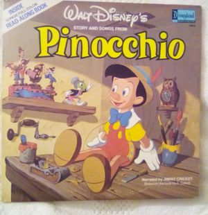 Pinocchio Story & Songs Record & Book Disney 1978 for Sale in Sacramento, CA