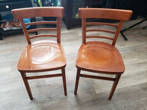Pair of small wooden chairs for Sale in Aurora, CO