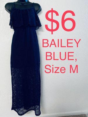 BAILEY BLUE, Maxi Blue Lace Dress, Size M for Sale in Phoenix, AZ