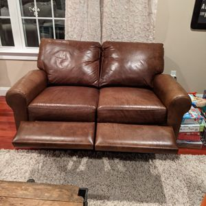 Auto Reclining Leather Loveseat for Sale in Norwood, MA