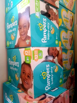 DIAPERS! PAMPERS BRAND ONLY! Pickup Only. Philadelphia Broad and Olney Area. No Delivery for Sale in Philadelphia, PA