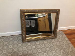 Gold vintage wood mirror for Sale in Hoboken, NJ