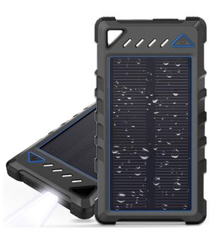 10000mAh Ultra-Compact External batteries with Dual USB Ports, Solar Power Bank with Flashlight for Camping, Outdoor Activities for Sale in Corona, CA