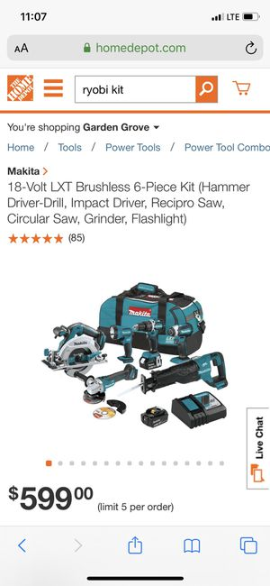 Makita power tool kit brand new with receipt for Sale in Santa Ana, CA