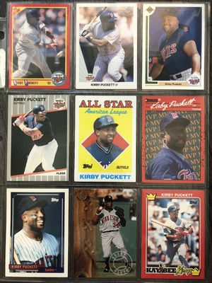 Kirby Puckett vintage collectible cards for Sale in Culver City, CA
