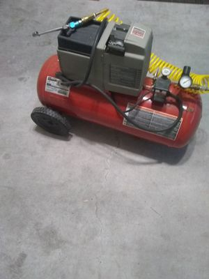 Air compressor 135 PSI with air tools and accessories for Sale in Bethesda, MD