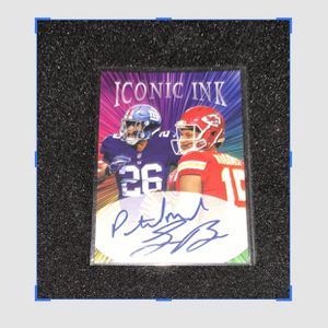 Saquan Barkley and Patrick Mahomes Iconic Ink Facsimile Autograph 10 Cards $35 for Sale in Mason, OH