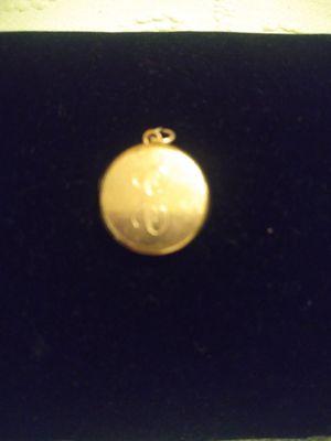 Vintage gold filled photo locket engraved letter E for Sale in Fullerton, CA