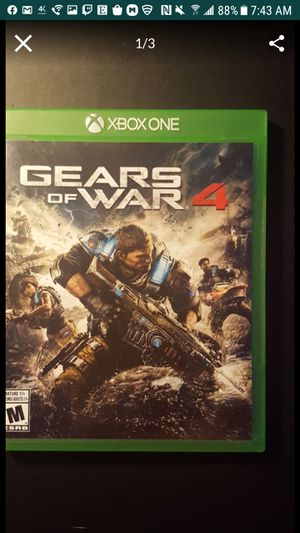 Gears Of War 4 Xbox One game shipping only for Sale in North Miami Beach, FL