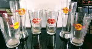 Hard rock collector glasses for Sale in Medford, OR