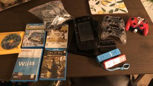 Nintendo Wii U Deluxe 32GB + 5 controllers + 5 games for Sale in Allentown, PA