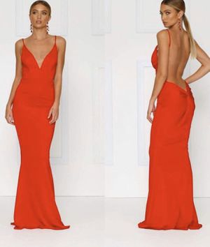 Deep open back red evening gown dress ♥️ for Sale in Los Angeles, CA