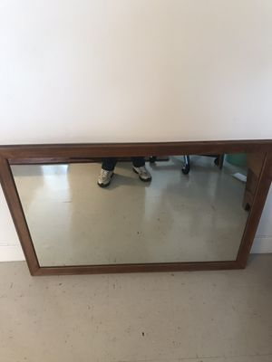 Heavy wall wood frame mirror for Sale in Yonkers, NY
