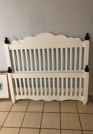 Free full size bed, complete headboard, footboard and sides and two stools for Sale in Miami, FL