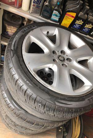 Set of stock jaguar rims and tires 500 OBO for Sale in Corona, CA