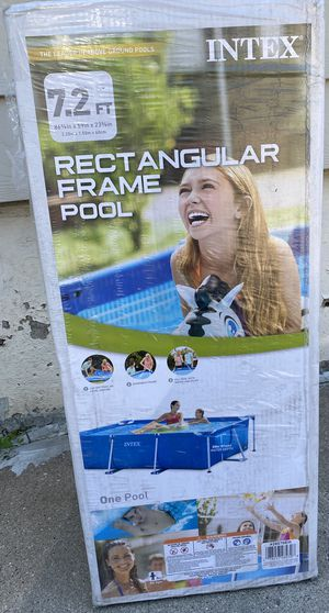 Rectangular frame pool $200 for Sale in Dearborn, MI