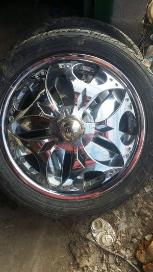 "20"" rims and spinners for Sale in Linden, PA"
