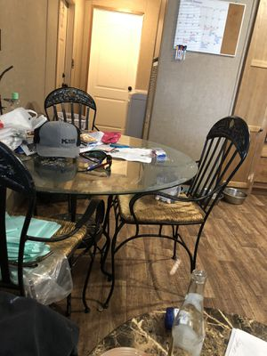 Cast iron table and chairs for Sale in Wichita, KS