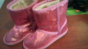 Pink girl glitter boots size 13 for Sale in San Bernardino, CA