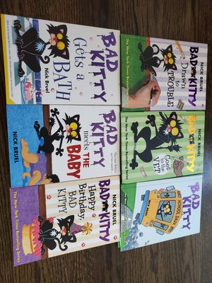 Bad kitty hc books nick bruel for Sale in Plainfield, IL