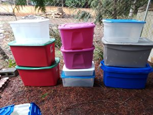 10 plastic storage containers/bins for Sale in Bonney Lake, WA