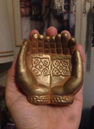 Praying hands Indian boho candle holder for Sale in Steilacoom, WA
