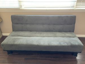 Grey adjustable futon couch for Sale in Modesto, CA