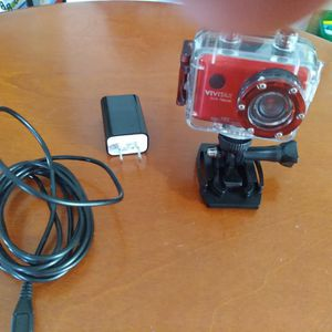 Vivitar DVR786HD-RED 12.1 MP Full HD Waterproof Action Camera - Red for Sale in Chester, VA