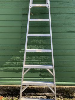 Werner 8foot Professional Heavy Duty Ladder And Fiskar Telescopic Saw for Sale in Newburgh Heights,  OH