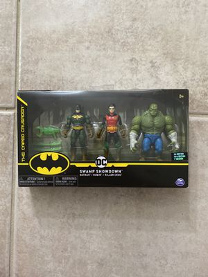 DC Swamp Showdown Batman Robin Killer Croc Caped Crusaders 1st. Ed.NIP for Sale in Aventura, FL