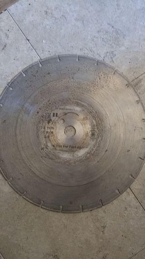 Diamond concrete cutting blade for Sale in San Diego, CA