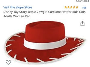 Disney Toy Story Jessie Cowgirl Costume Hat for Kids Girls Adults Women Red for Sale in Ontario, CA