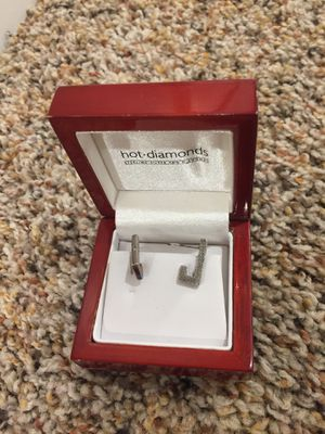 "Hot Diamond ""J"" earrings for Sale in Gibsonia, PA"