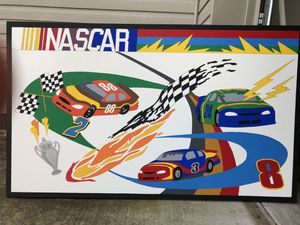 Nascar themed painted canvases ..set of 6 for Sale in Murfreesboro, TN