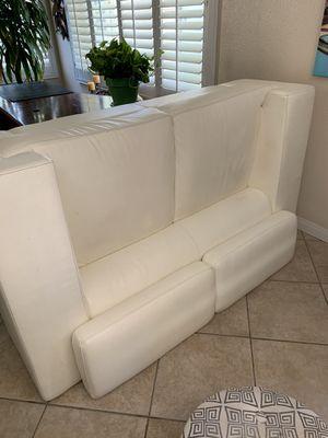 White couches leather for Sale in Chula Vista, CA