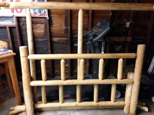 QUEEM SIZE SOLID OAK BED FRAME for Sale in Columbus, OH
