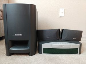 Bose Home Theater System AV3-2-1 Media Center With Sub, Speakers, Cords for Sale in Kenmore, WA