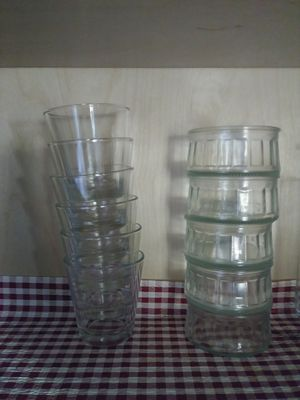 6 small glasses and 5 pudding bowls for Sale in Gaithersburg, MD