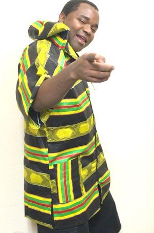 Blackish-Yellow-greenish zipped hoodie free size for Sale in Phoenix, AZ
