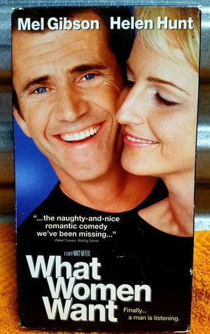 WHAT WOMEN WANT. MEL GIBSON. HELEN HUNT 📼 VHS 2000 for Sale in San Diego, CA