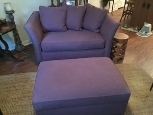 Loveseat sofa sleeper and ottoman for Sale in Austin, TX